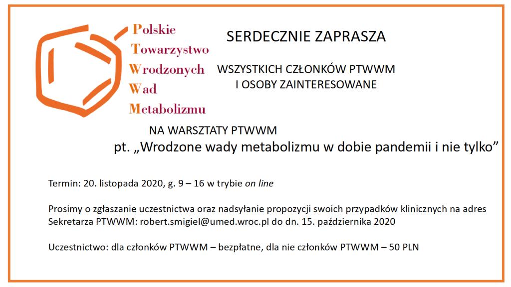 Warsztaty PTWWM 2020